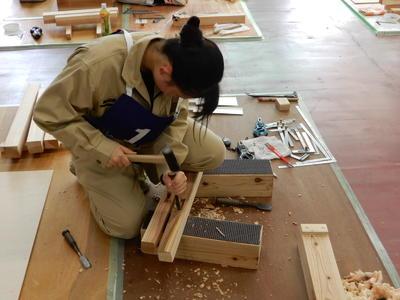 ものづくりコンテスト木材加工部門優勝(東北大会出場決定)